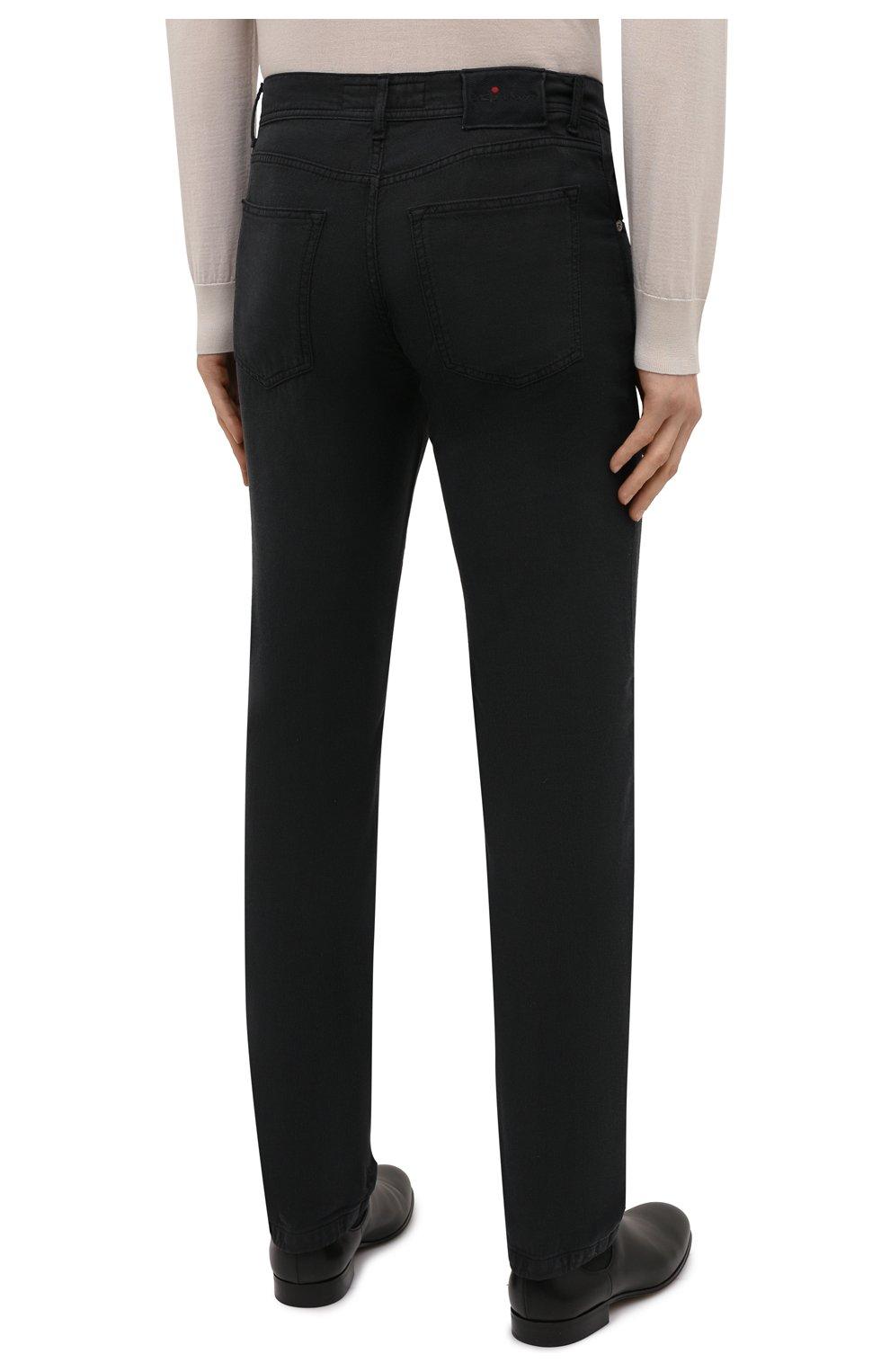 Мужские брюки KITON черного цвета, арт. UPNJSJ07T45 | Фото 4