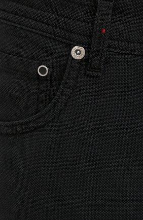 Мужские брюки KITON черного цвета, арт. UPNJSJ07T45 | Фото 5