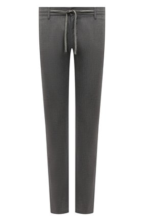 Мужские шерстяные брюки CANALI серого цвета, арт. V1659/EW03221 | Фото 1