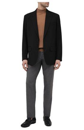 Мужские шерстяные брюки CANALI серого цвета, арт. V1659/EW03221 | Фото 2