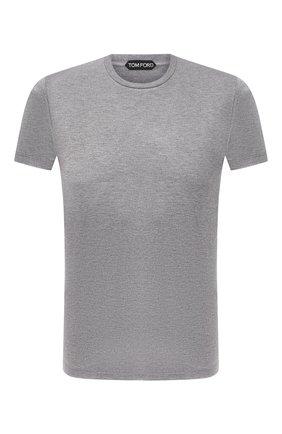Мужская футболка из вискозы TOM FORD серого цвета, арт. BW278/TFJ209 | Фото 1