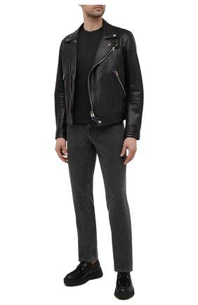 Мужская футболка из вискозы TOM FORD темно-серого цвета, арт. BW278/TFJ209 | Фото 2 (Длина (для топов): Стандартные; Материал внешний: Вискоза; Рукава: Короткие; Принт: Без принта; Стили: Кэжуэл)