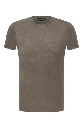Мужская футболка из вискозы TOM FORD хаки цвета, арт. BW278/TFJ209 | Фото 1