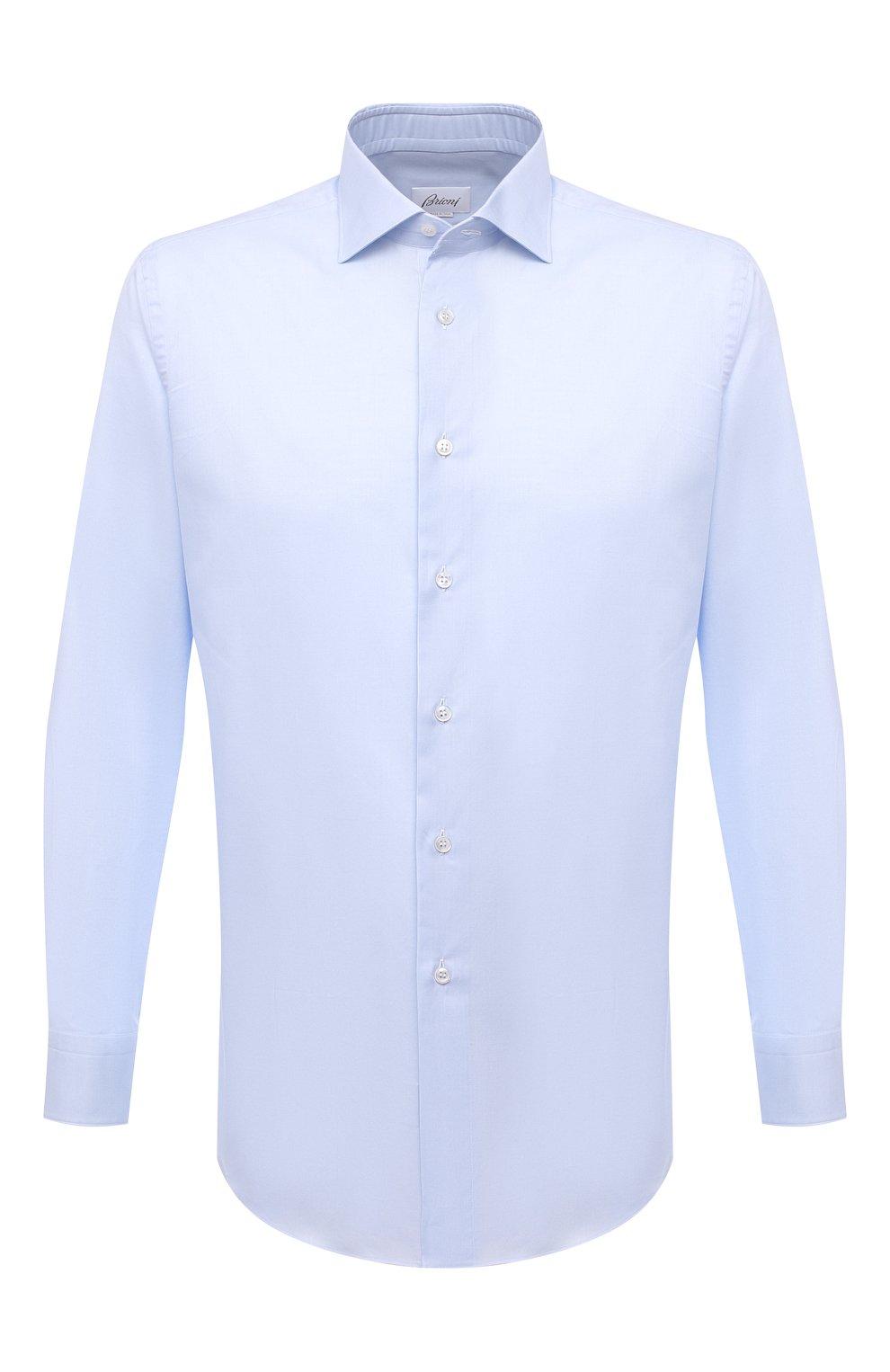 Мужская хлопковая сорочка BRIONI светло-голубого цвета, арт. RCH10N/P004L | Фото 1