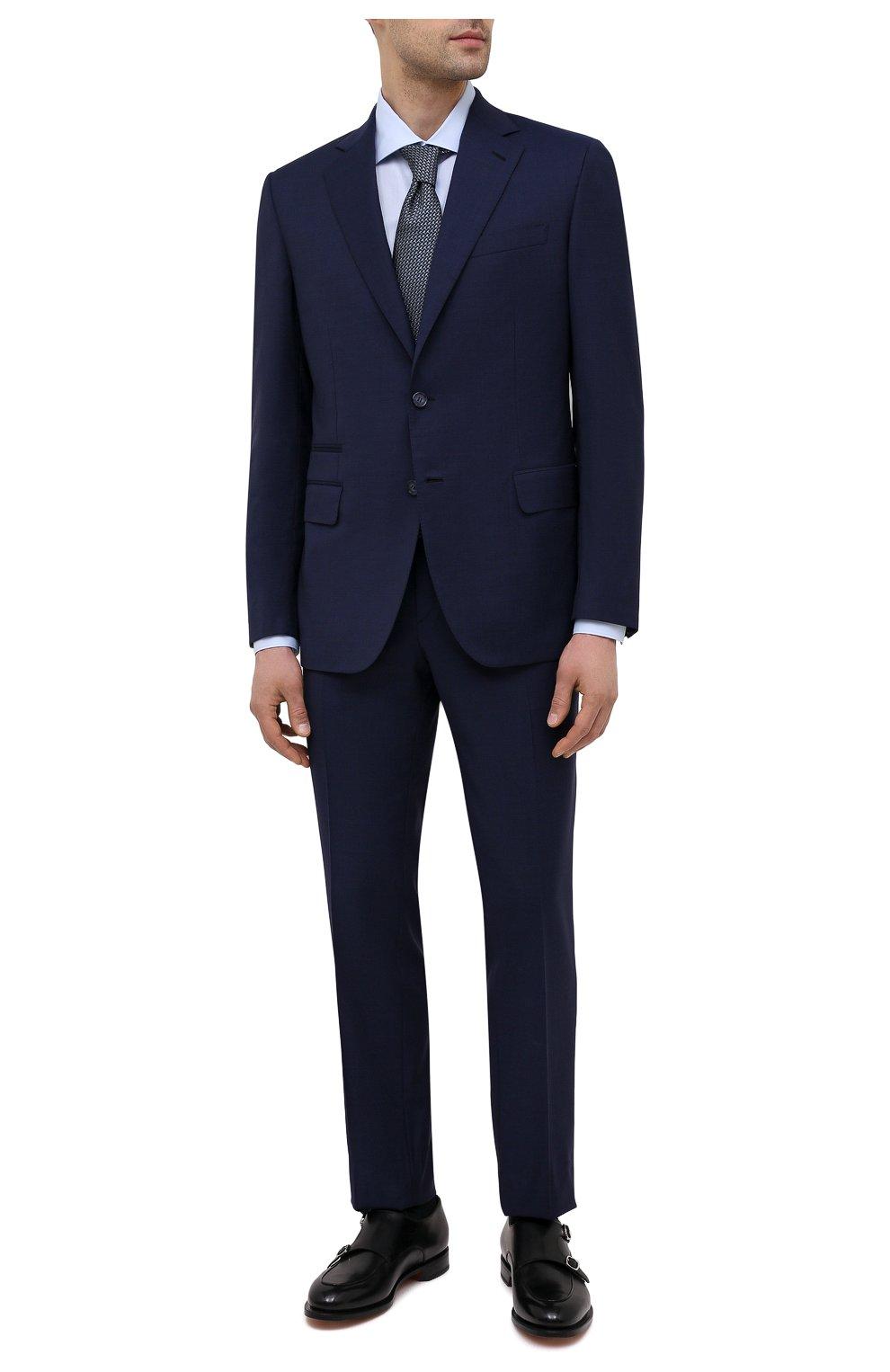 Мужская хлопковая сорочка BRIONI светло-голубого цвета, арт. RCH10N/P004L | Фото 2