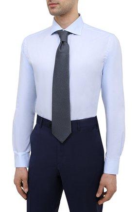 Мужская хлопковая сорочка BRIONI светло-голубого цвета, арт. RCH10N/P004L | Фото 4