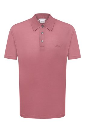 Мужское хлопковое поло BRIONI розового цвета, арт. UJFR0L/P0612 | Фото 1