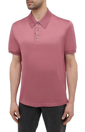 Мужское хлопковое поло BRIONI розового цвета, арт. UJFR0L/P0612 | Фото 3