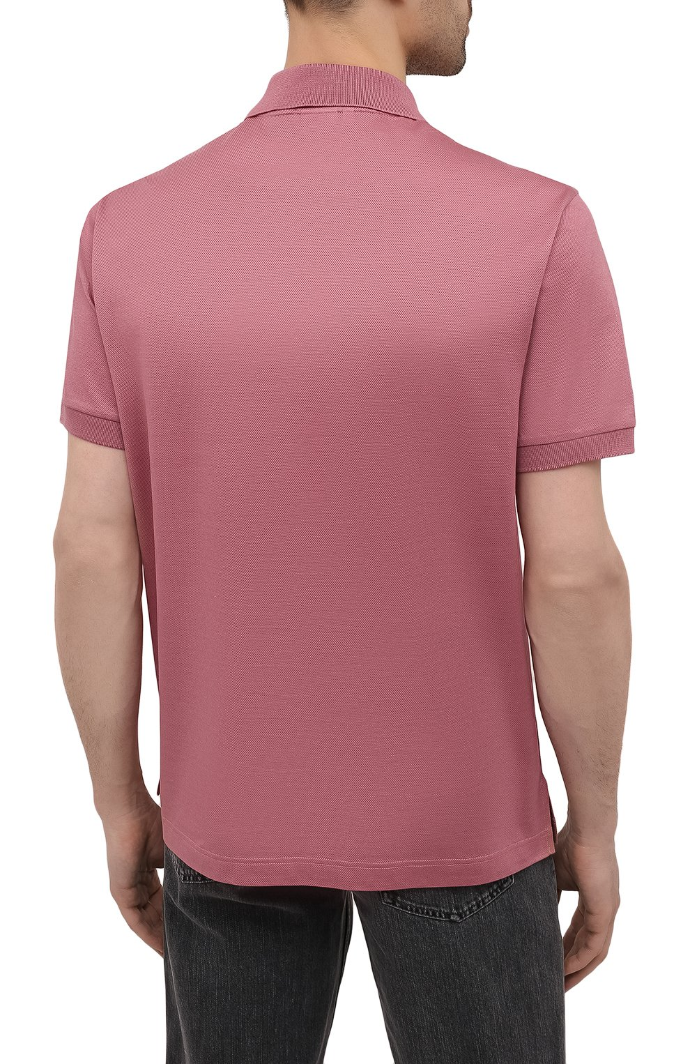 Мужское хлопковое поло BRIONI розового цвета, арт. UJFR0L/P0612 | Фото 4