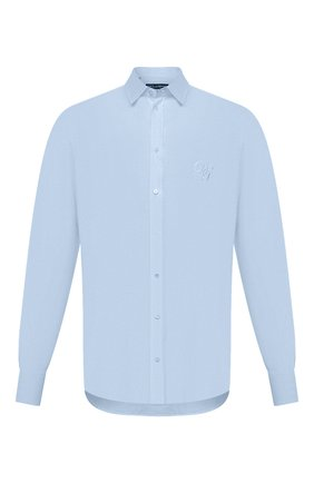 Мужская льняная рубашка DOLCE & GABBANA голубого цвета, арт. G5EJ1Z/FU4IK | Фото 1