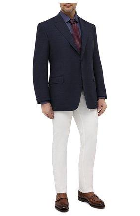 Мужская хлопковая сорочка ETON темно-синего цвета, арт. 1000 03037 | Фото 2 (Материал внешний: Хлопок; Длина (для топов): Стандартные; Рукава: Длинные; Стили: Классический; Манжеты: На пуговицах; Воротник: Акула; Случай: Формальный; Рубашки М: Regular Fit; Принт: Однотонные)