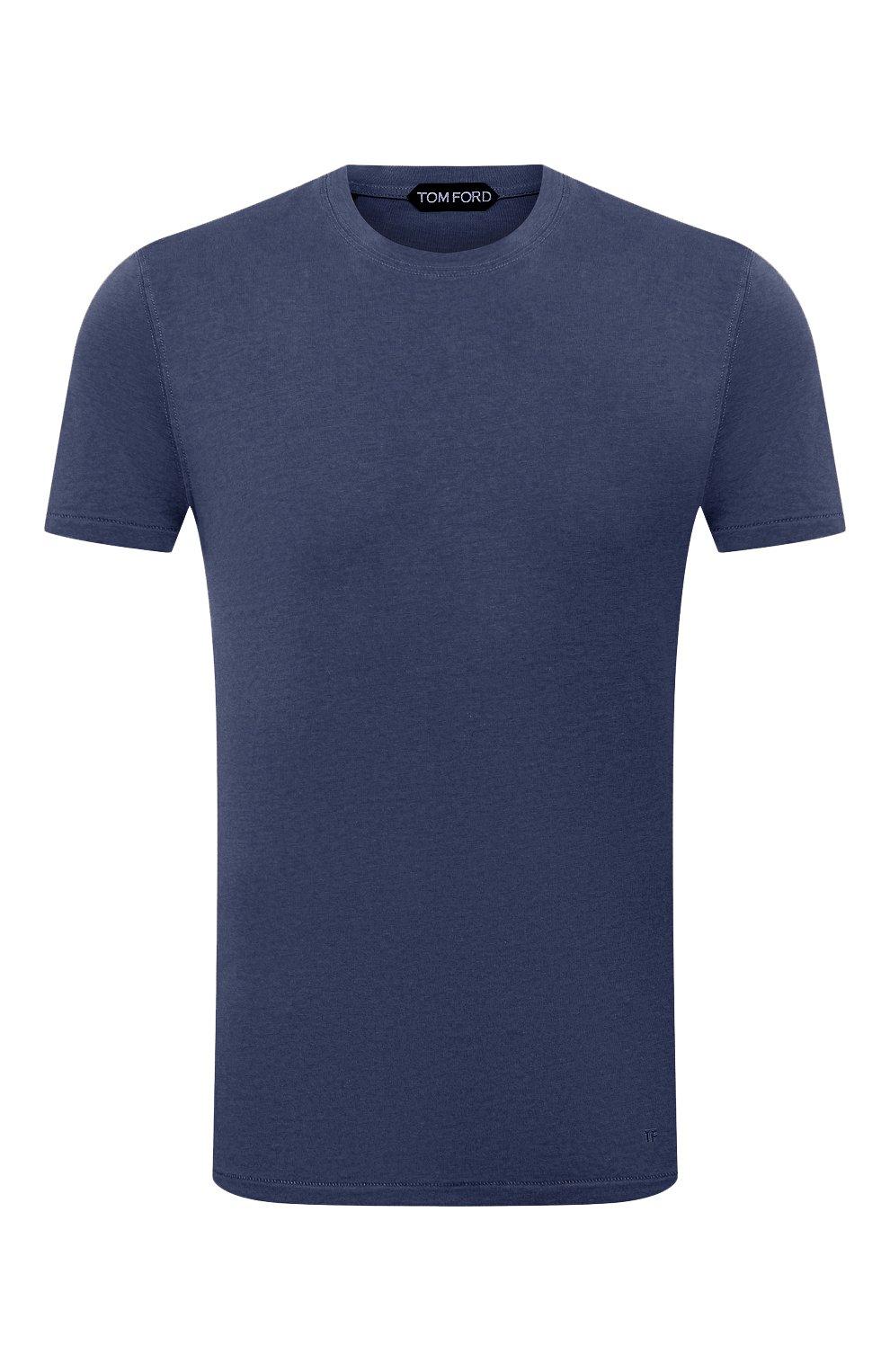 Мужская футболка TOM FORD темно-синего цвета, арт. BW229/TFJ950 | Фото 1