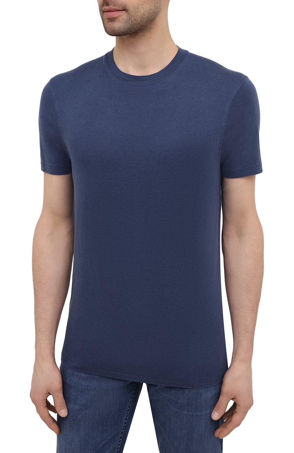 Мужская футболка TOM FORD темно-синего цвета, арт. BW229/TFJ950 | Фото 3