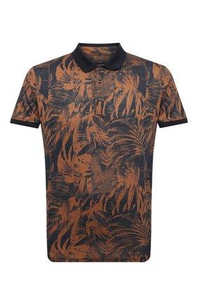 Мужское хлопковое поло CAPOBIANCO коричневого цвета, арт. 10M609.SP00. | Фото 1