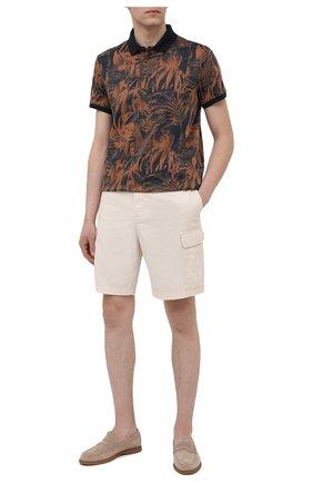 Мужское хлопковое поло CAPOBIANCO коричневого цвета, арт. 10M609.SP00. | Фото 2