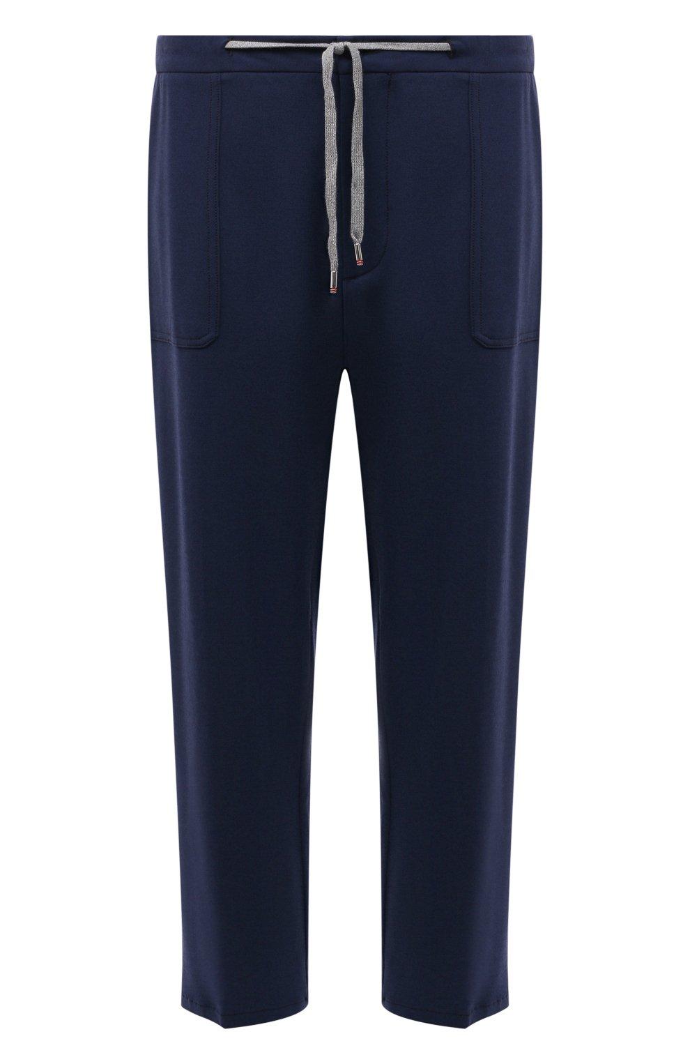 Мужские брюки из вискозы MARCO PESCAROLO синего цвета, арт. BAIA/4362   Фото 1 (Big sizes: Big Sizes; Мужское Кросс-КТ: Брюки-трикотаж; Длина (брюки, джинсы): Стандартные; Случай: Повседневный; Материал внешний: Вискоза; Стили: Кэжуэл)