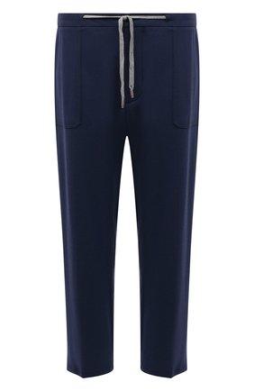 Мужские брюки из вискозы MARCO PESCAROLO синего цвета, арт. BAIA/4362 | Фото 1 (Длина (брюки, джинсы): Стандартные; Материал внешний: Вискоза; Мужское Кросс-КТ: Брюки-трикотаж; Стили: Кэжуэл; Big sizes: Big Sizes; Случай: Повседневный)
