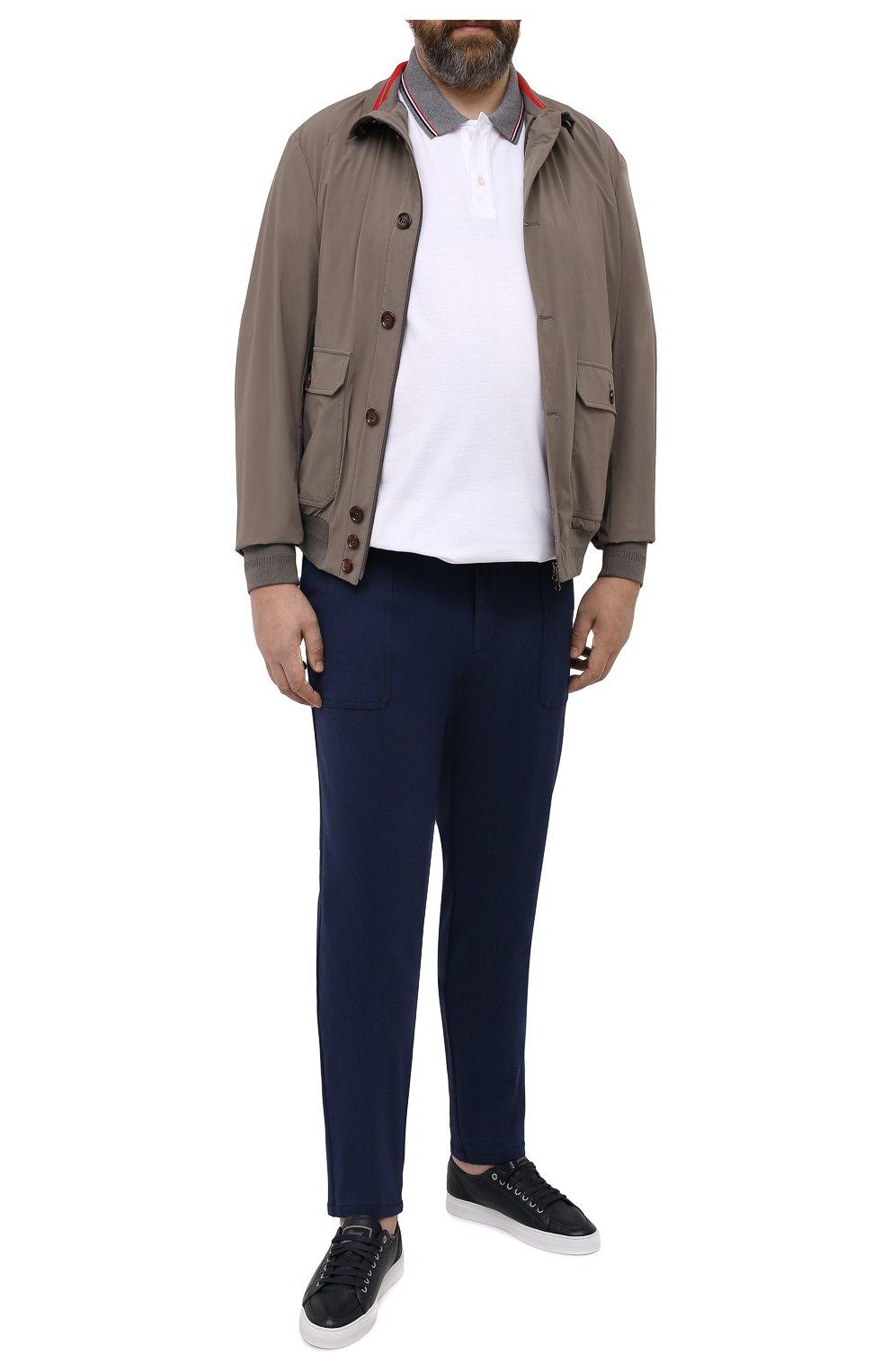 Мужские брюки из вискозы MARCO PESCAROLO синего цвета, арт. BAIA/4362   Фото 2 (Big sizes: Big Sizes; Мужское Кросс-КТ: Брюки-трикотаж; Длина (брюки, джинсы): Стандартные; Случай: Повседневный; Материал внешний: Вискоза; Стили: Кэжуэл)