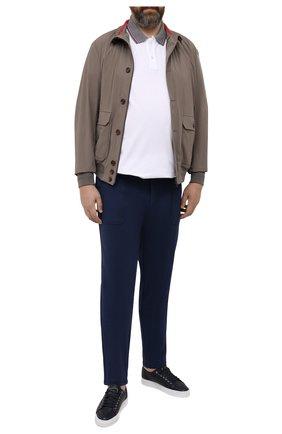 Мужские брюки из вискозы MARCO PESCAROLO синего цвета, арт. BAIA/4362 | Фото 2 (Длина (брюки, джинсы): Стандартные; Материал внешний: Вискоза; Мужское Кросс-КТ: Брюки-трикотаж; Стили: Кэжуэл; Big sizes: Big Sizes; Случай: Повседневный)