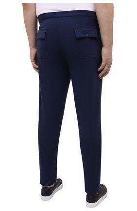 Мужские брюки из вискозы MARCO PESCAROLO синего цвета, арт. BAIA/4362   Фото 4 (Big sizes: Big Sizes; Мужское Кросс-КТ: Брюки-трикотаж; Длина (брюки, джинсы): Стандартные; Случай: Повседневный; Материал внешний: Вискоза; Стили: Кэжуэл)