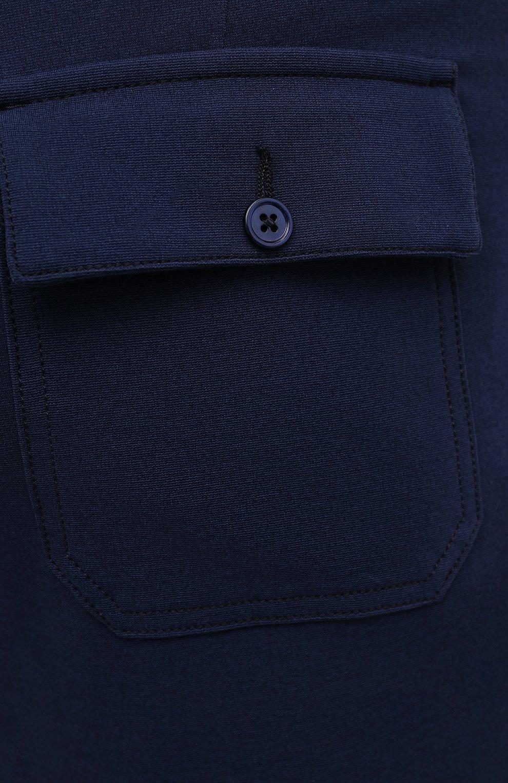 Мужские брюки из вискозы MARCO PESCAROLO синего цвета, арт. BAIA/4362   Фото 5 (Big sizes: Big Sizes; Мужское Кросс-КТ: Брюки-трикотаж; Длина (брюки, джинсы): Стандартные; Случай: Повседневный; Материал внешний: Вискоза; Стили: Кэжуэл)