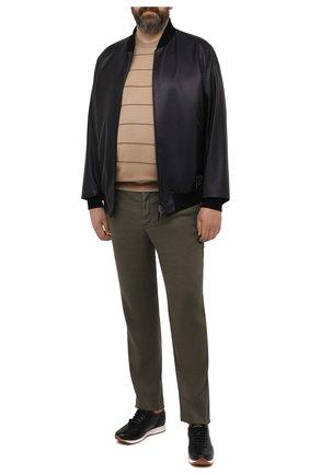 Мужские брюки MARCO PESCAROLO хаки цвета, арт. CHIAIAM/4306 | Фото 2