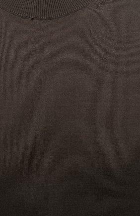 Мужской джемпер из шелка и хлопка TOM FORD хаки цвета, арт. BWT92/TFKC10   Фото 5 (Мужское Кросс-КТ: Джемперы; Материал внешний: Шелк, Хлопок; Принт: Без принта; Рукава: Короткие; Длина (для топов): Стандартные; Вырез: Круглый; Стили: Кэжуэл)