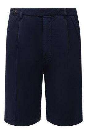 Мужские хлопковые шорты BRUNELLO CUCINELLI синего цвета, арт. M274DG0620 | Фото 1