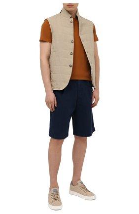 Мужские хлопковые шорты BRUNELLO CUCINELLI синего цвета, арт. M274DG0620 | Фото 2