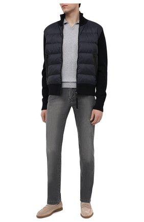 Мужское хлопковое поло BRUNELLO CUCINELLI темно-серого цвета, арт. M29800145 | Фото 2