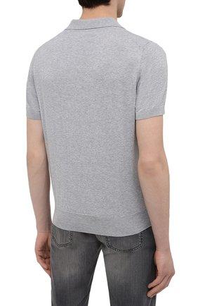 Мужское хлопковое поло BRUNELLO CUCINELLI темно-серого цвета, арт. M29800145 | Фото 4