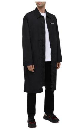Мужские комбинированные кроссовки ramsey BURBERRY черного цвета, арт. 8034127 | Фото 2