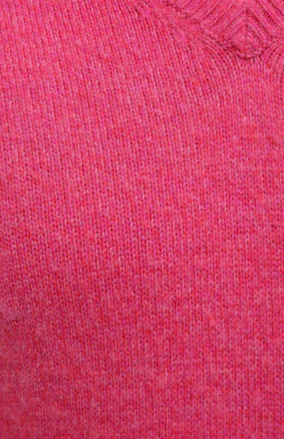 Мужской кашемировый свитер TOM FORD розового цвета, арт. BWK70/TFK100   Фото 5 (Материал внешний: Шерсть; Рукава: Длинные; Принт: Без принта; Длина (для топов): Стандартные; Стили: Романтичный)