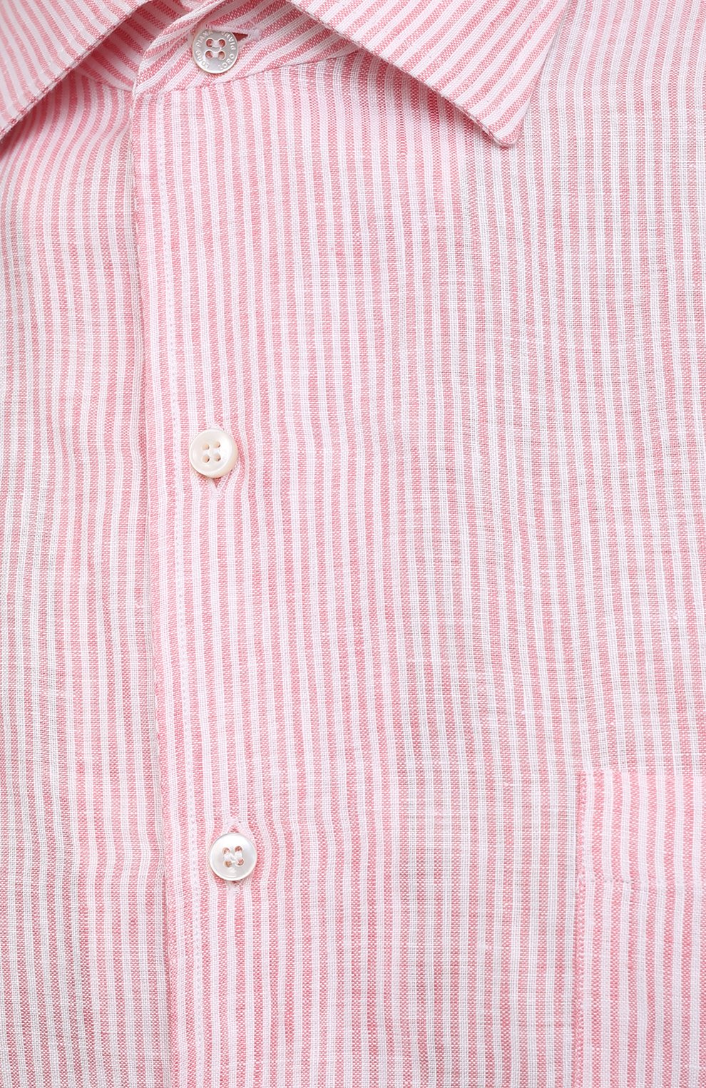 Мужская льняная рубашка LORO PIANA розового цвета, арт. FAL6145 | Фото 5