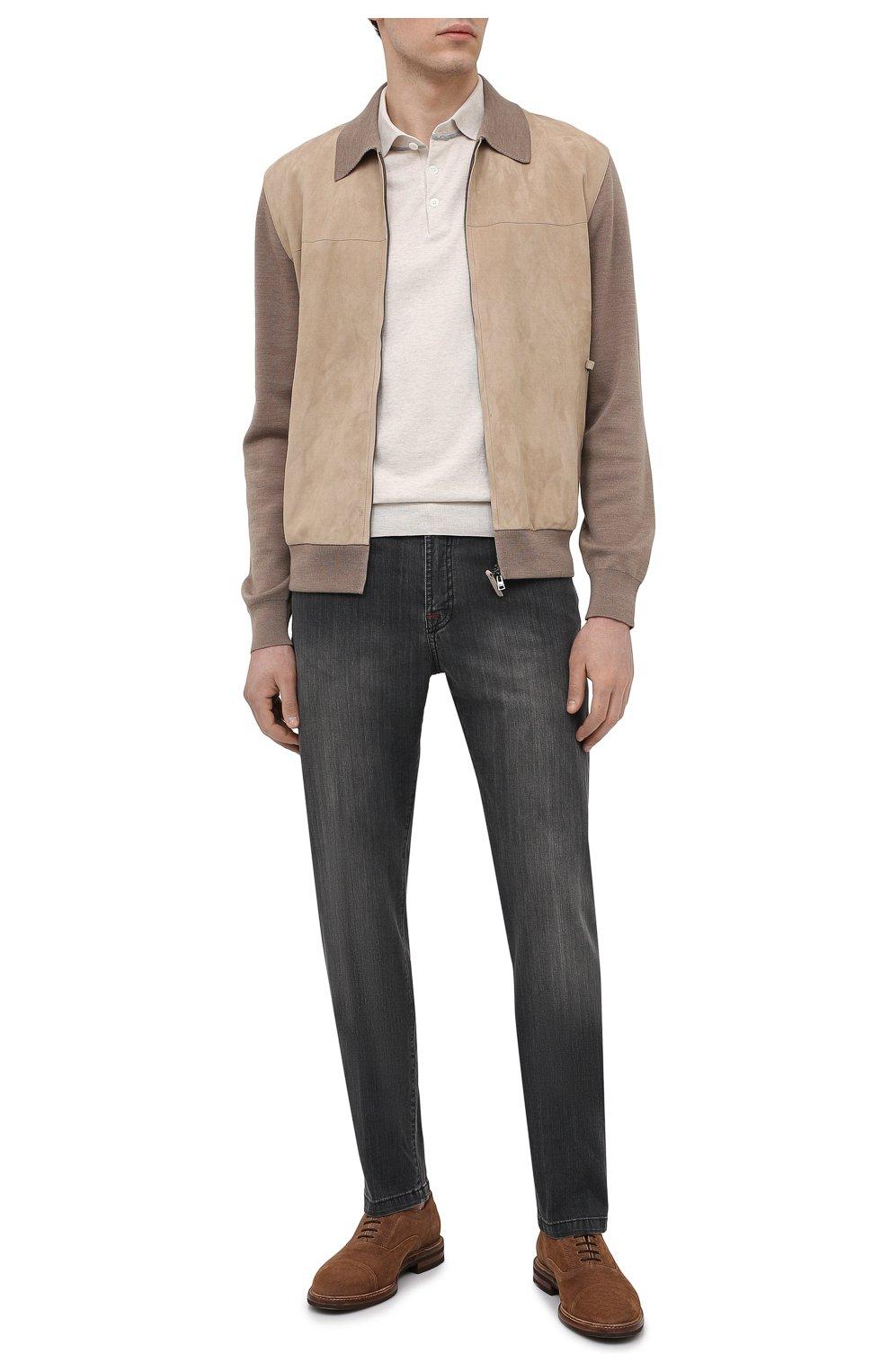 Мужские джинсы KITON серого цвета, арт. UPNJS/J06T94   Фото 2