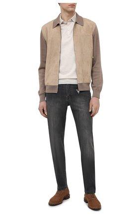Мужские джинсы KITON серого цвета, арт. UPNJS/J06T94 | Фото 2