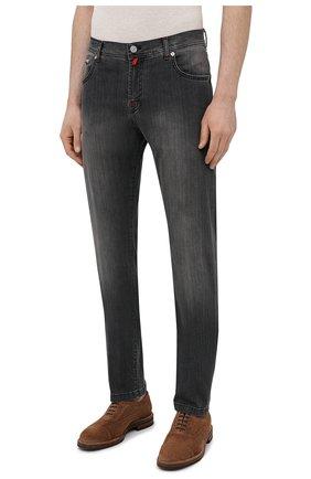 Мужские джинсы KITON серого цвета, арт. UPNJS/J06T94   Фото 3