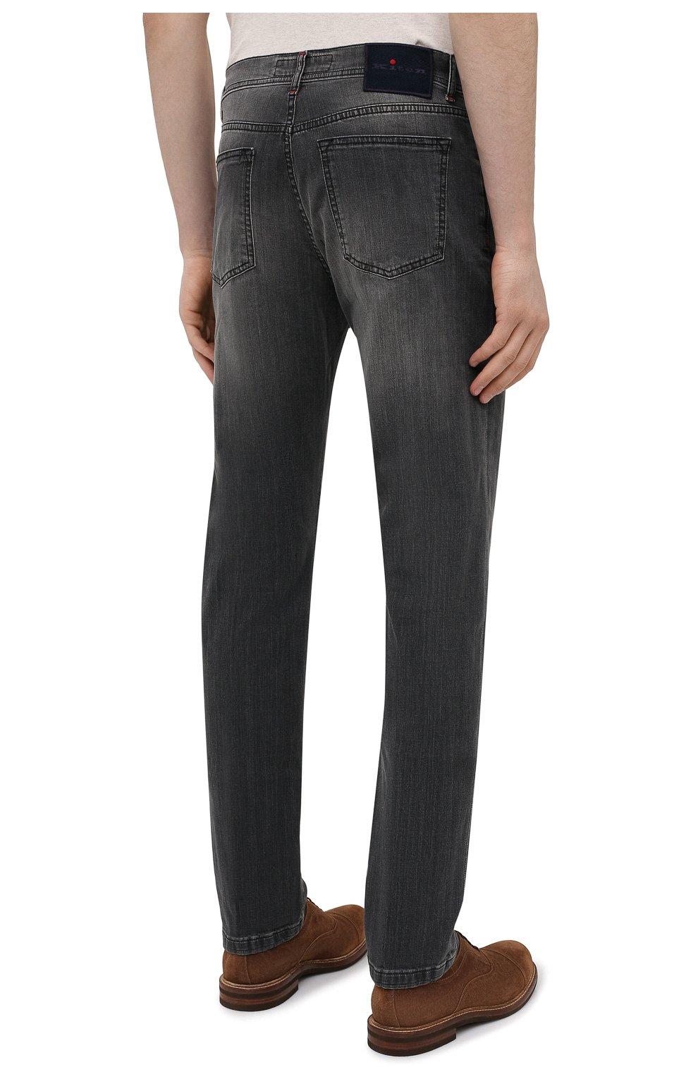 Мужские джинсы KITON серого цвета, арт. UPNJS/J06T94   Фото 4