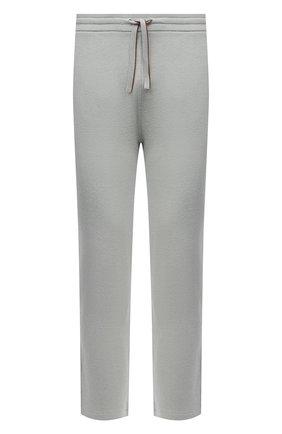 Мужские хлопковые брюки LORO PIANA светло-зеленого цвета, арт. FAL5985 | Фото 1 (Материал внешний: Хлопок; Длина (брюки, джинсы): Стандартные; Случай: Повседневный; Мужское Кросс-КТ: Брюки-трикотаж; Стили: Спорт-шик)