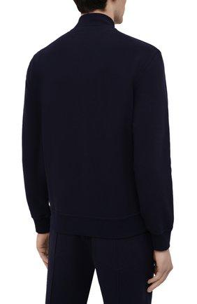 Мужской хлопковая толстовка BRUNELLO CUCINELLI темно-синего цвета, арт. M0T159072G | Фото 4