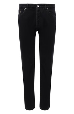 Мужские джинсы BRUNELLO CUCINELLI темно-серого цвета, арт. ME245X1290 | Фото 1
