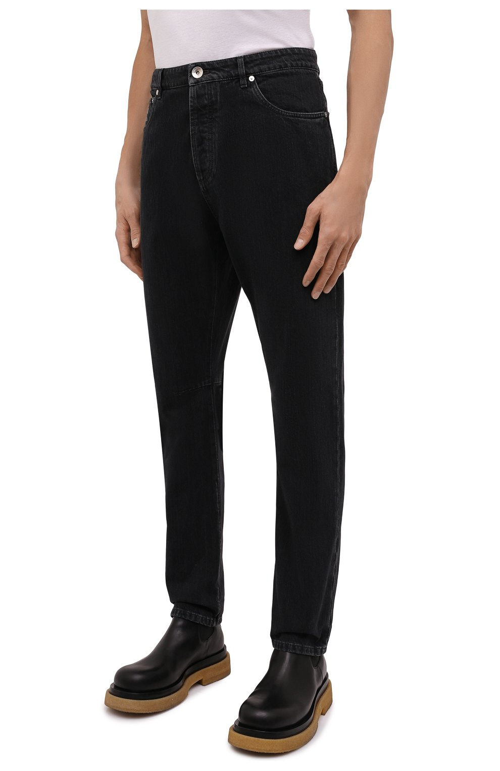 Мужские джинсы BRUNELLO CUCINELLI темно-серого цвета, арт. ME245X1290 | Фото 3