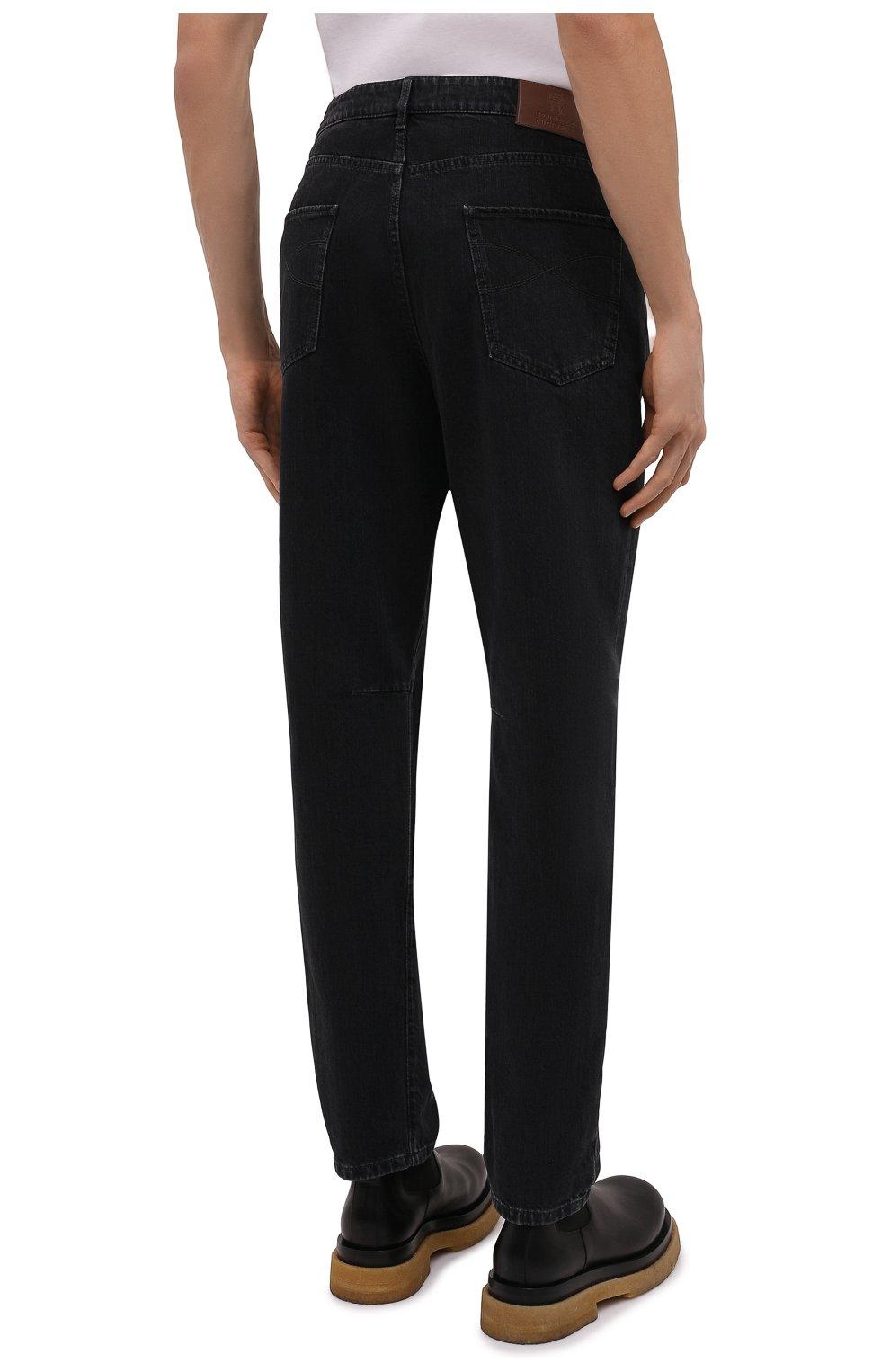 Мужские джинсы BRUNELLO CUCINELLI темно-серого цвета, арт. ME245X1290 | Фото 4