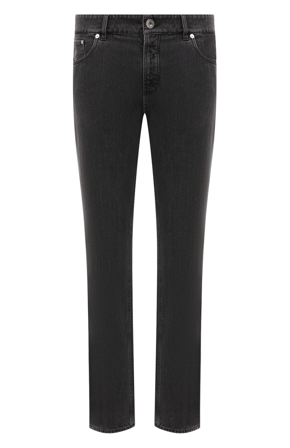 Мужские джинсы BRUNELLO CUCINELLI темно-серого цвета, арт. ME245B2210 | Фото 1