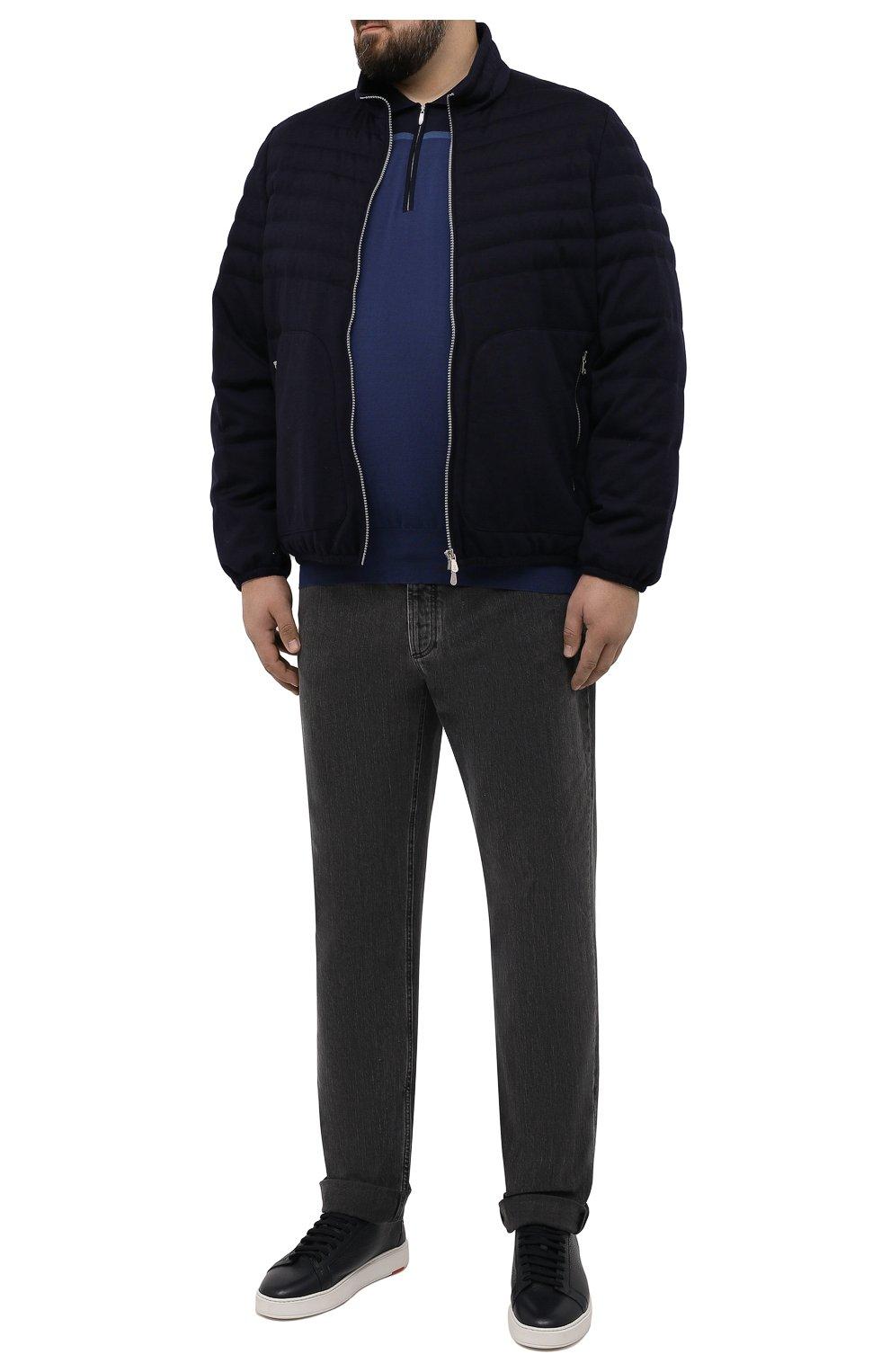 Мужские джинсы BRUNELLO CUCINELLI темно-серого цвета, арт. ME245B2210 | Фото 2