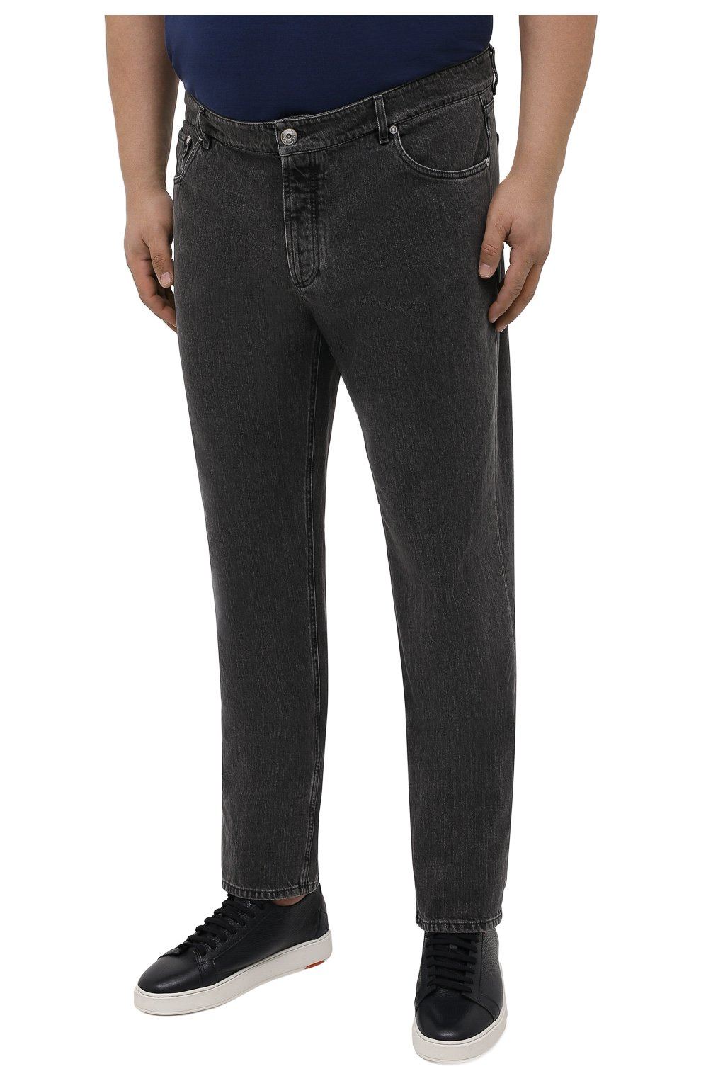 Мужские джинсы BRUNELLO CUCINELLI темно-серого цвета, арт. ME245B2210 | Фото 3