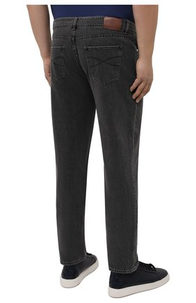 Мужские джинсы BRUNELLO CUCINELLI темно-серого цвета, арт. ME245B2210 | Фото 4