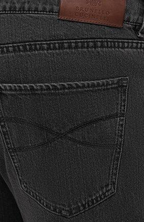 Мужские джинсы BRUNELLO CUCINELLI темно-серого цвета, арт. ME245B2210 | Фото 5