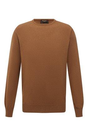 Мужской свитер из шерсти викуньи LORO PIANA бежевого цвета, арт. FAA7229/VVIC | Фото 1