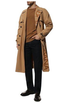 Мужской свитер из шерсти викуньи LORO PIANA бежевого цвета, арт. FAA7229/VVIC | Фото 2